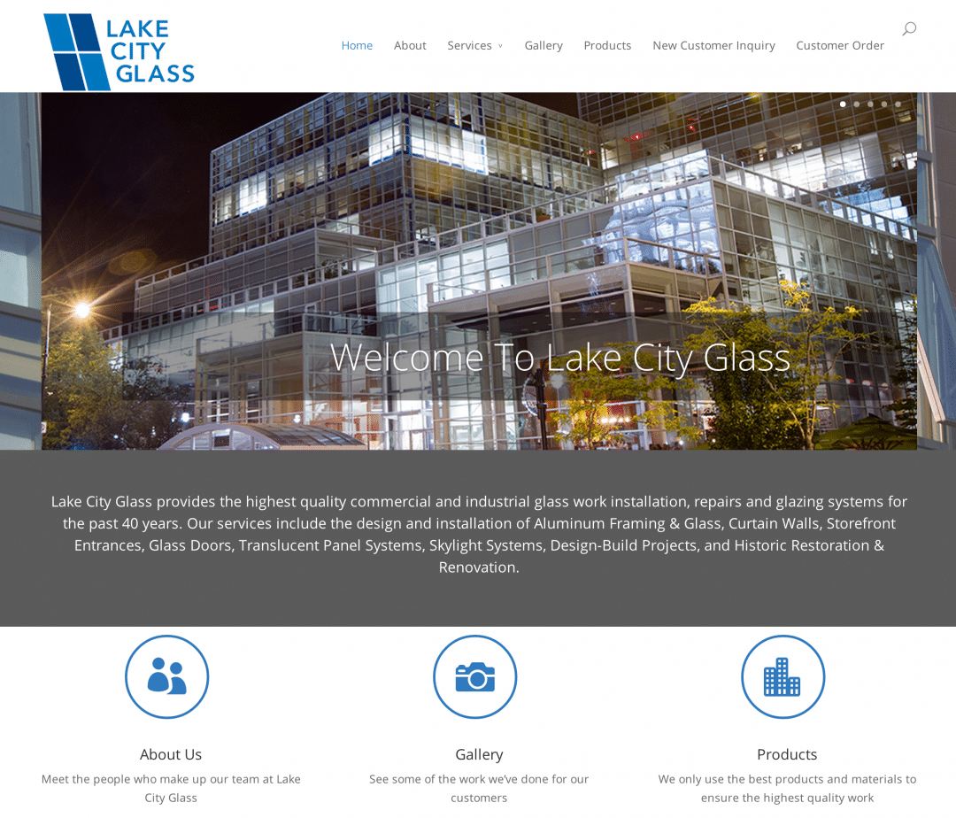 Lake City Glass website